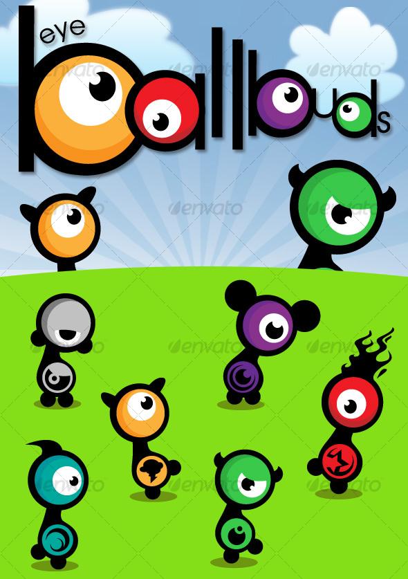 Eyeball Buds Vector Characters - Characters Vectors