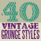 40 Grunge Photoshop Styles And Patterns - GraphicRiver Item for Sale
