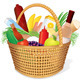 Picnic Hamper with Food - GraphicRiver Item for Sale