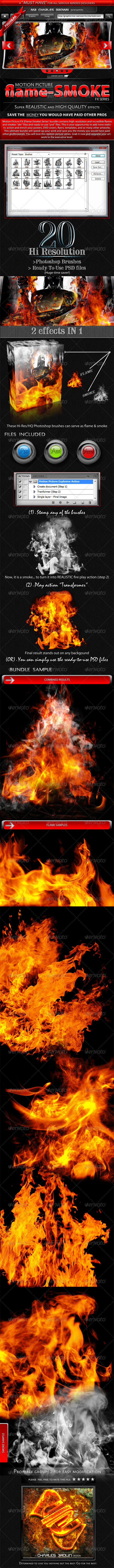 GraphicRiver Motion Picture Flame-Smoke Series 2460486