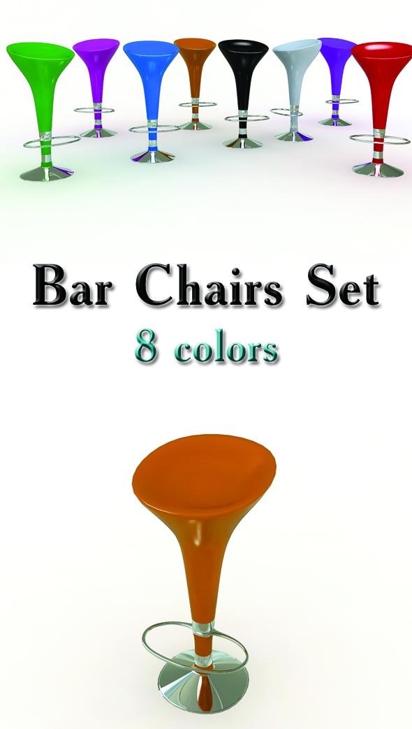 3DOcean Bar Stools Set 90218