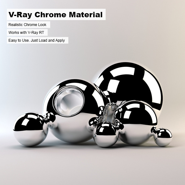 3docean v ray chrome material 244282 for Mirror vray material
