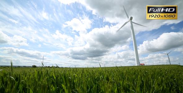 Wind Turbine On Wind Farm 2-Pack