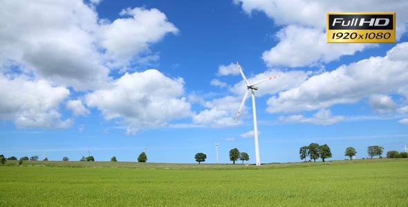 Wind Turbine On Wind Farm 3-Pack