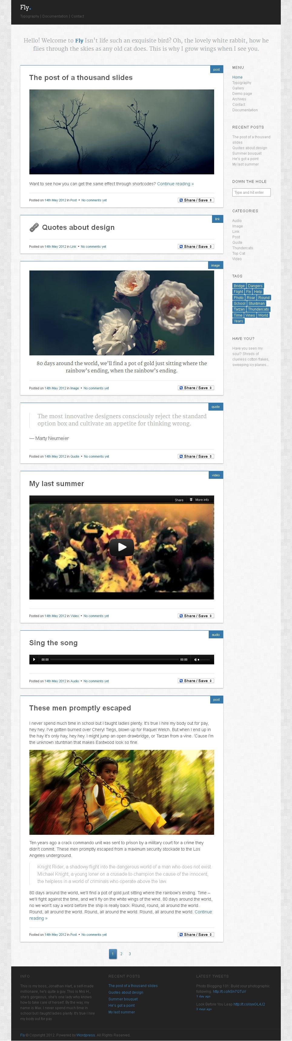 Fly - Lightweight WordPress Blog Theme