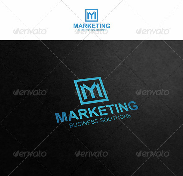M - Marketing Logo - Letters Logo Templates