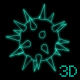 3D Spinning and Luminescent Mace - ActiveDen Item for Sale
