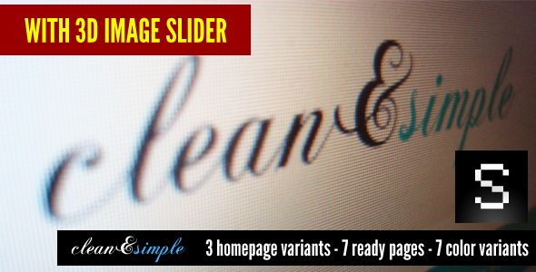 clean&simple - with 3d image slider