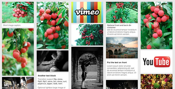jQuery pinterest style gallery plugin - CodeCanyon Item for Sale