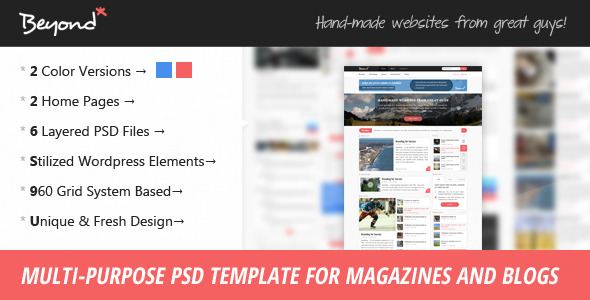 Beyond - Multi-purpose PSD Template
