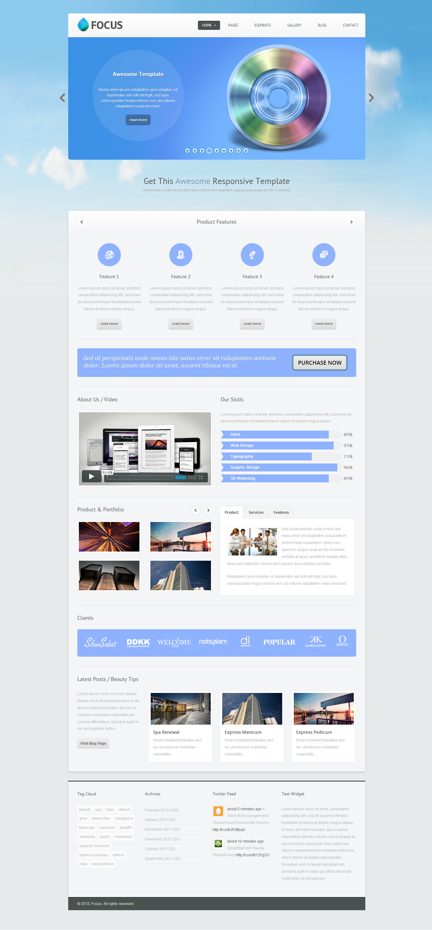 Focus - Responsive Website Template