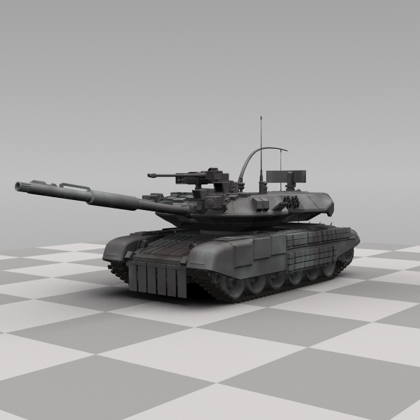 Russian Tank - 3DOcean Item for Sale