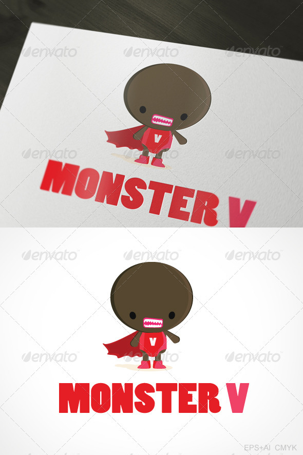 Monster V Logo - Letters Logo Templates