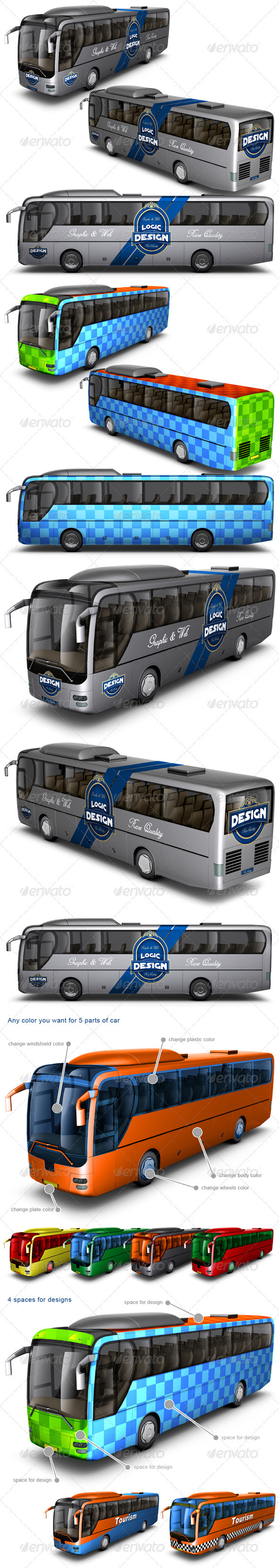 Bus Mock Up - Vehicle Wraps Print
