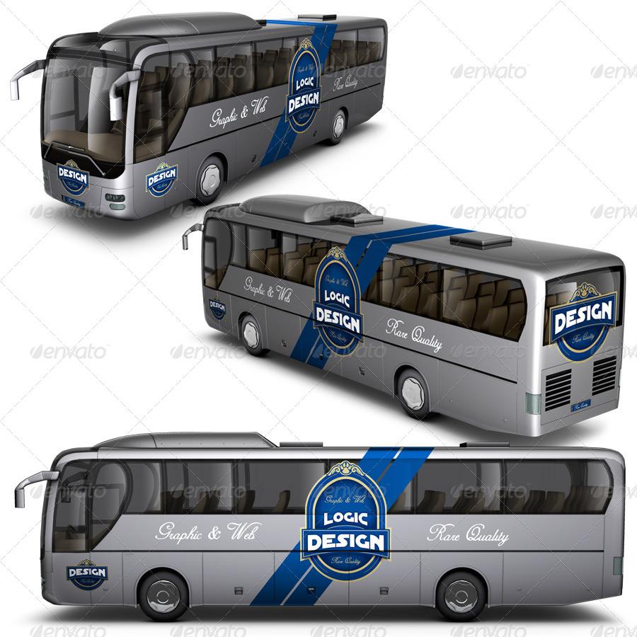 Bus Mock Up By Logic Design Graphicriver