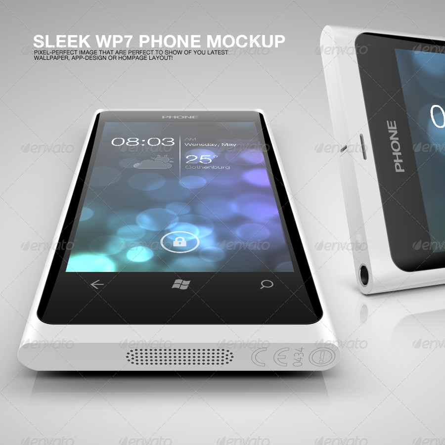 WP7 Phone Mockup