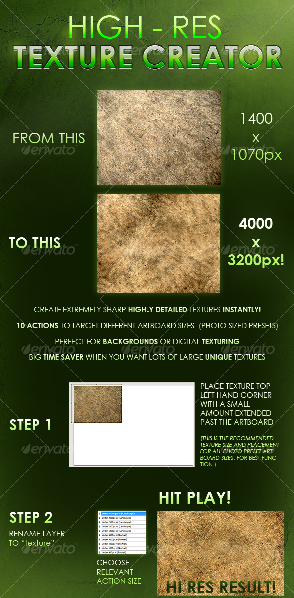 GraphicRiver Instant Hi-Res Texture Creator 90382
