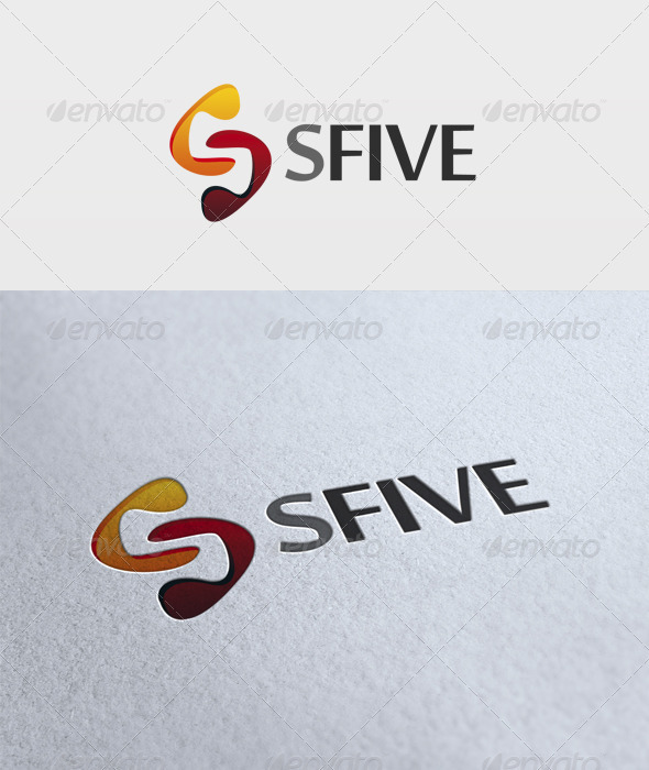 S Five Logo - Numbers Logo Templates