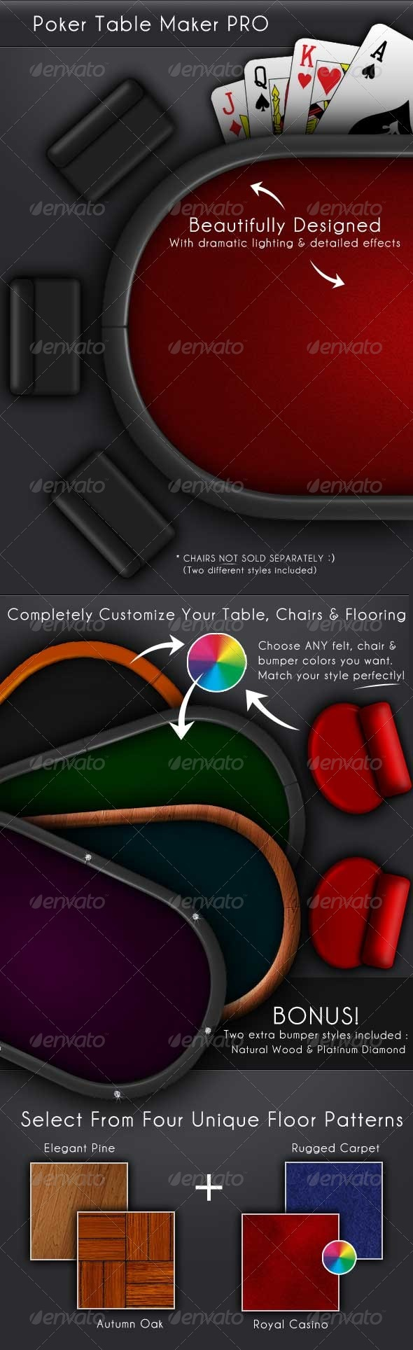 Casino Poker Table Maker Pro - Objects Illustrations