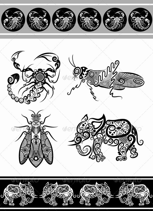 Animal ornaments (series 2) - Decorative Symbols Decorative