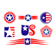 American patriotic symbols - GraphicRiver Item for Sale