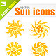 9 Sun icons - GraphicRiver Item for Sale