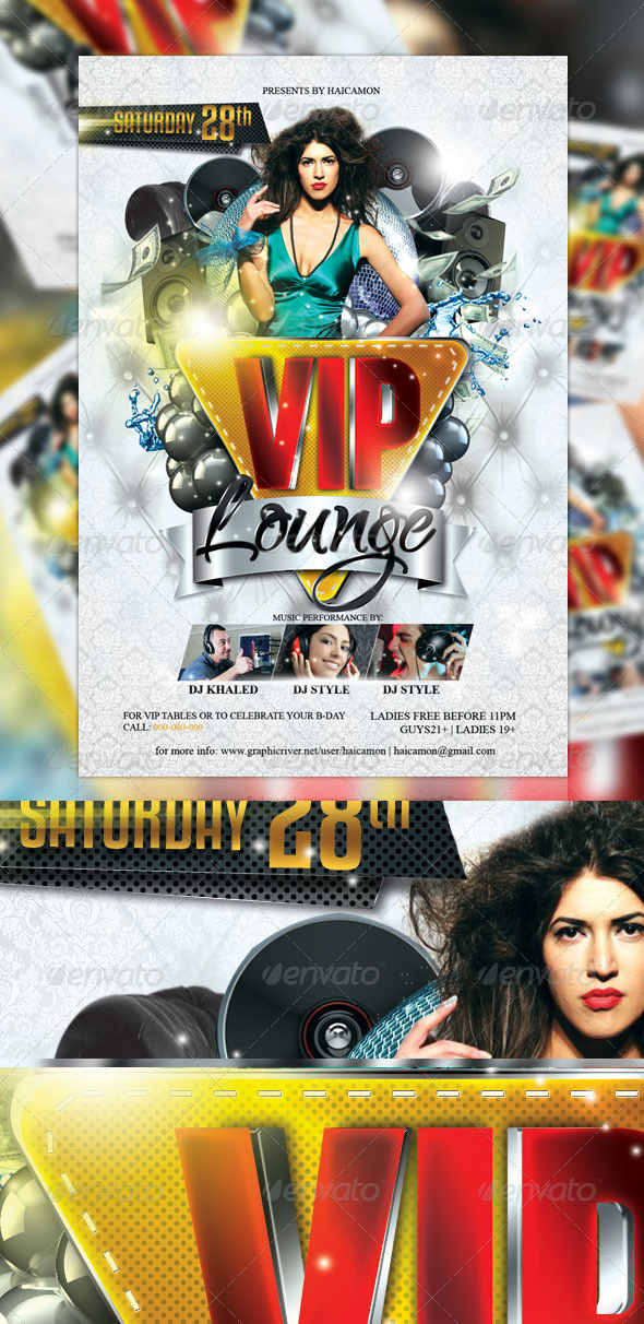 GraphicRiver VIP Lounge Party Flyer 2178531
