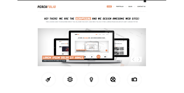 PeachFolio - Premium WordPress Portfolio Theme