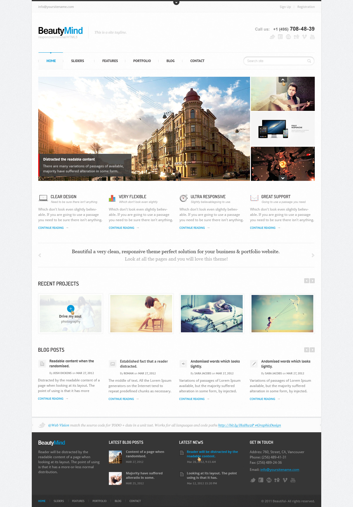 BeautyMind - Unique & Clean PSD Template
