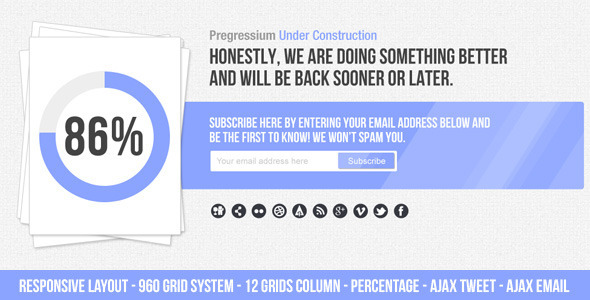 Progressium - Responsive Under Construction