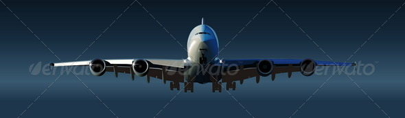 GraphicRiver Back Airbus takeoff 2471416