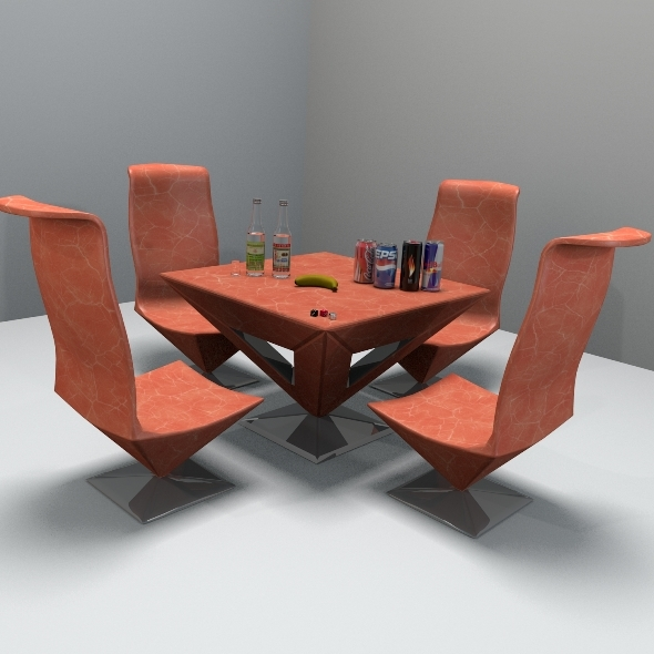 3DOcean Pyramid Table And Chair 2471736