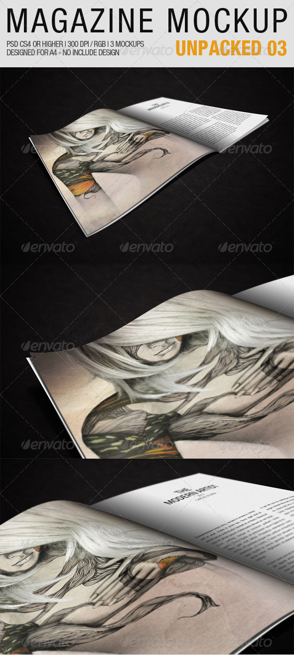 Magazine Mockup Unpacked 03 - Magazines Print