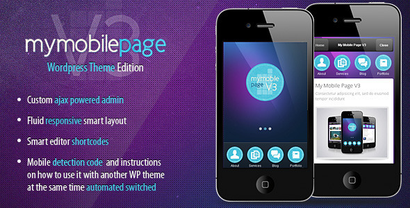 ThemeForest My Mobile Page V3 Wordpress Theme 1328741