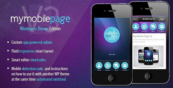My Mobile Page V3 Wordpress Theme - theme preview screenshot