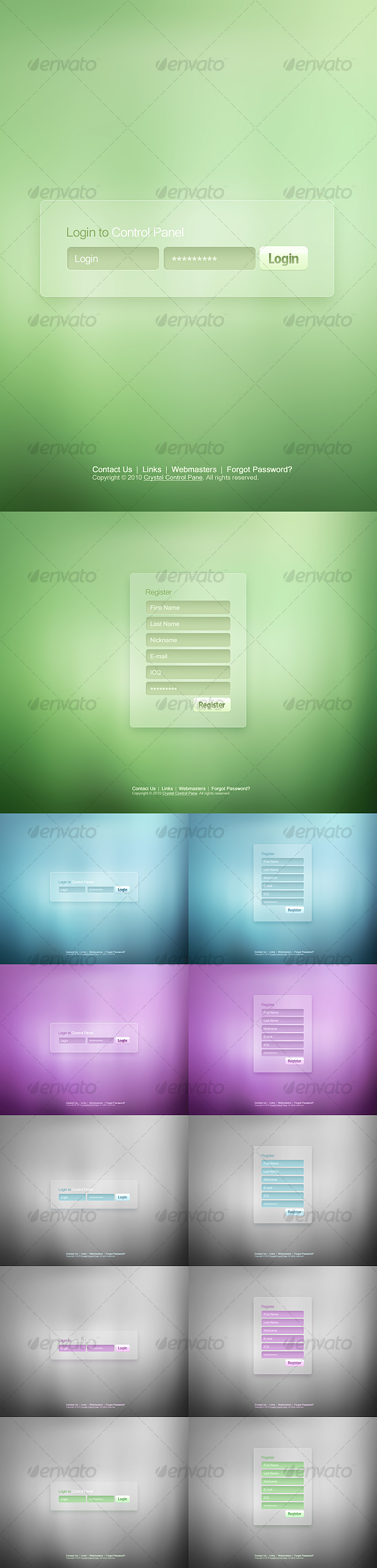 GraphicRiver High Level Login & Registration Screen Design 90585