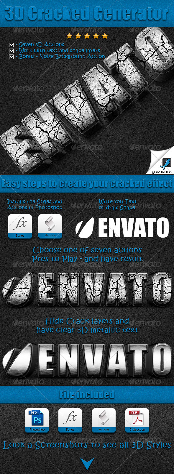 GraphicRiver 3D Cracked Generator 2473703