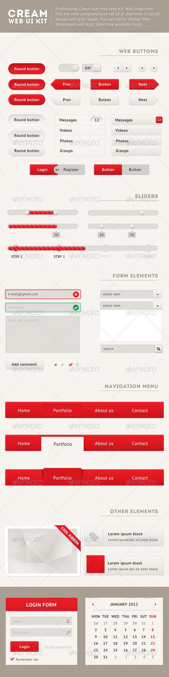 Clean Web UI Kit - User Interfaces Web Elements