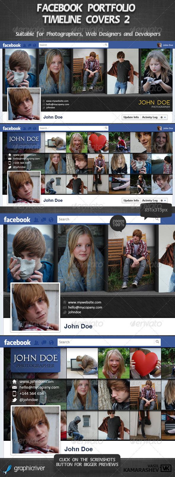 GraphicRiver Facebook Portfolio Timeline Covers 2 2473860