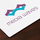 Media Waves Logo - GraphicRiver Item for Sale
