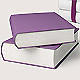 Violet and white books. 3D illustration - GraphicRiver Item for Sale