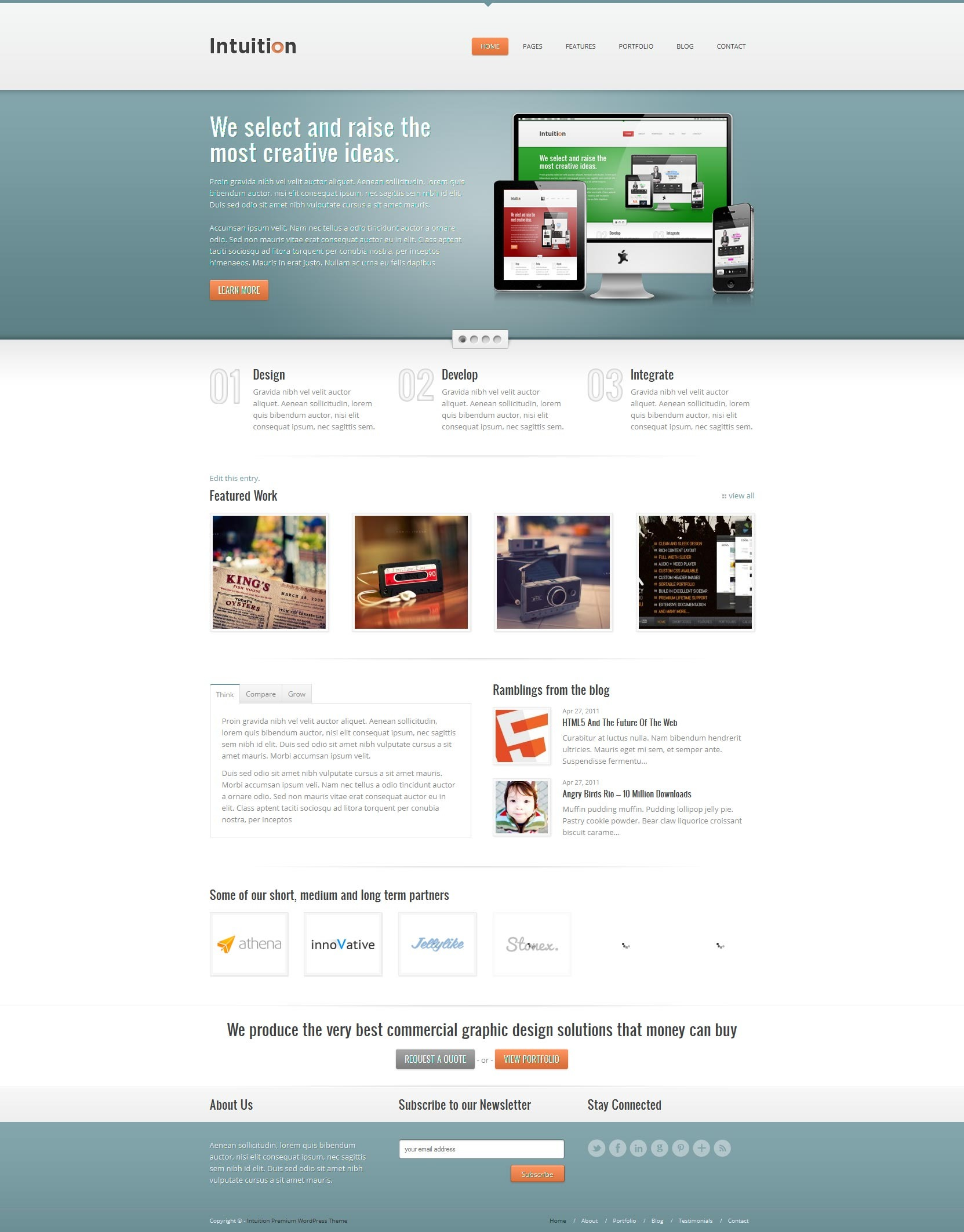 Intuition - Responsive Business WordPress Theme