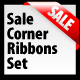 Sale Corner Ribbon Set - GraphicRiver Item for Sale
