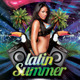 Latin Summer #2 Party Flyer + Facebook Cover - GraphicRiver Item for Sale