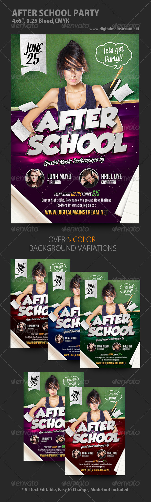 After School Party Flyer - Events Flyers