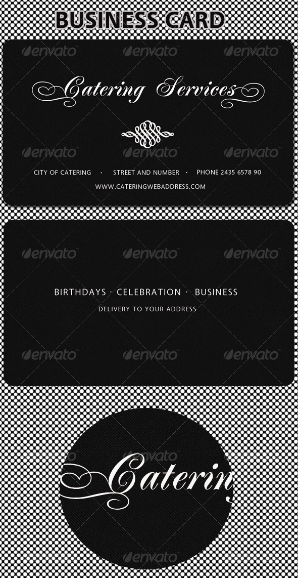 Catering services business card graphicriver for Catering business card template