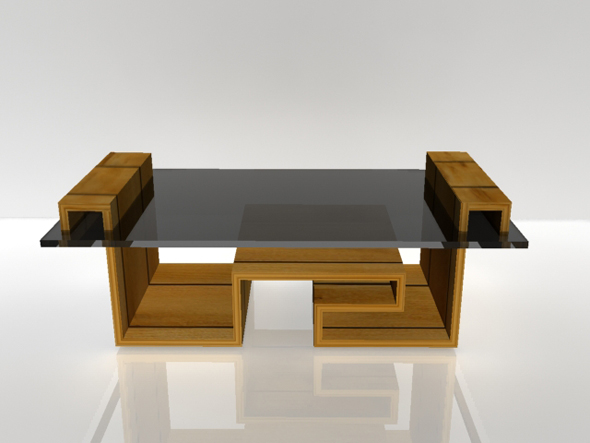 3DOcean Low Poly Wooden Table 90067