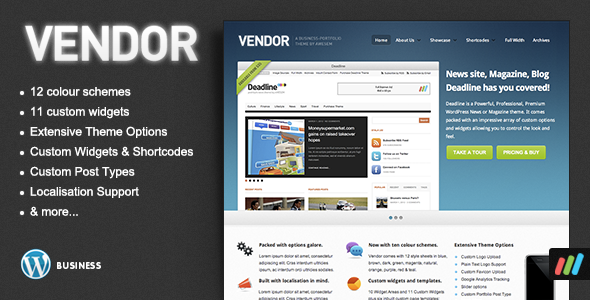 ThemeForest Vendor Premium WordPress Portfolio Theme 224169