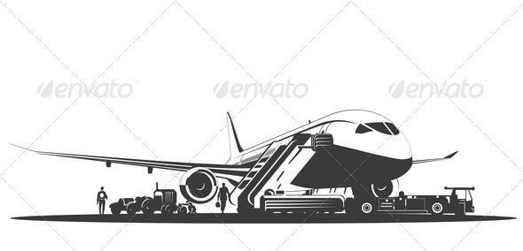 Airplane at Runway