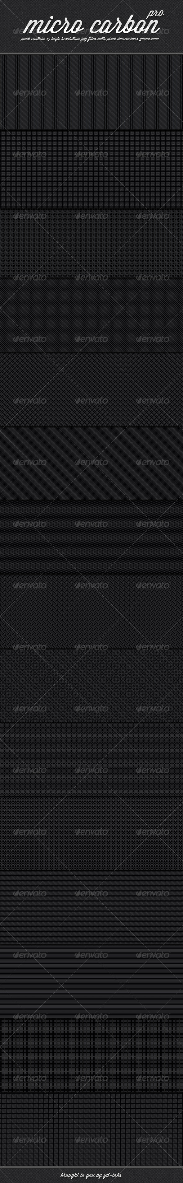 Micro Carbon Patterns Pro - Patterns Backgrounds